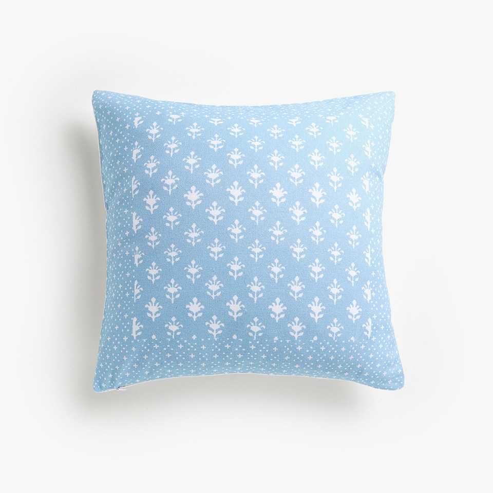 Kids printed cotton throw pillow cover