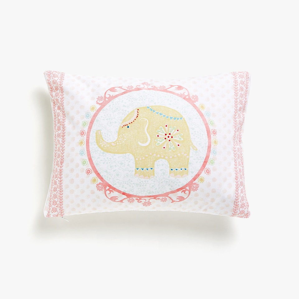 Kids framed elephant cushion cover