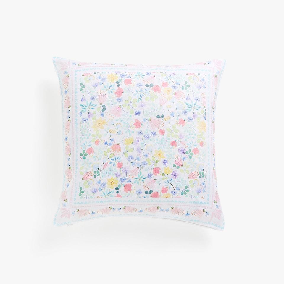 Kissenbezug mit Blumenprint Kids