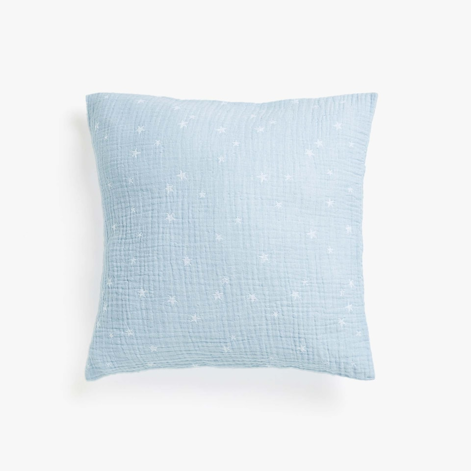 FLOWING STARRED COTTON CUSHION COVER