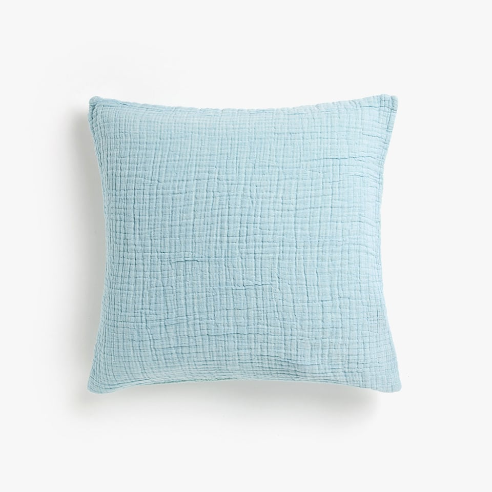 FLOWING TWO-TONE COTTON THROW PILLOW COVER