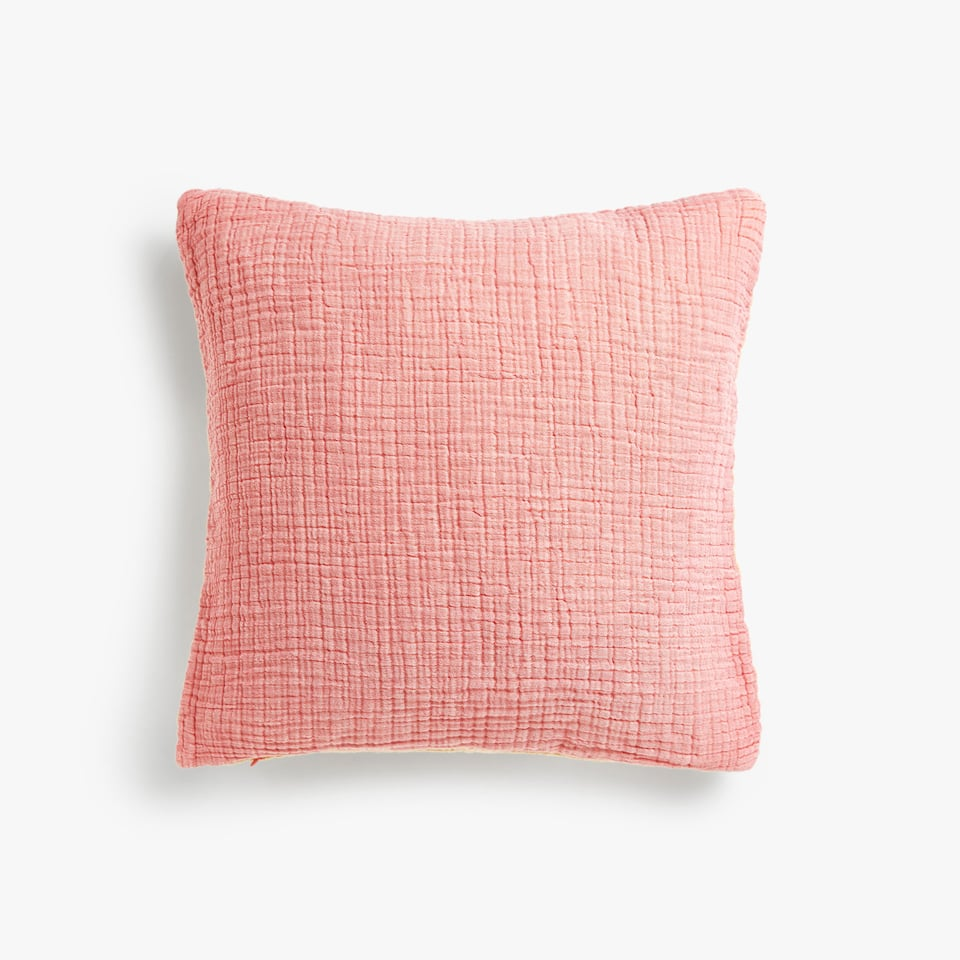 FLOWING TWO-TONE COTTON CUSHION COVER