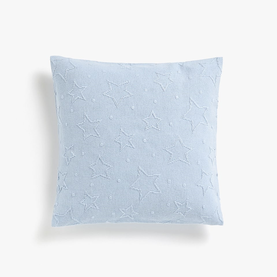 STARS AND POLKA DOTS CROCHET COTTON CUSHION COVER