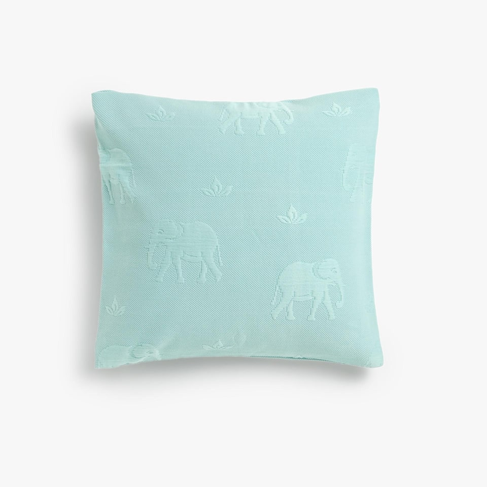 ELEPHANTS COTTON CUSHION COVER