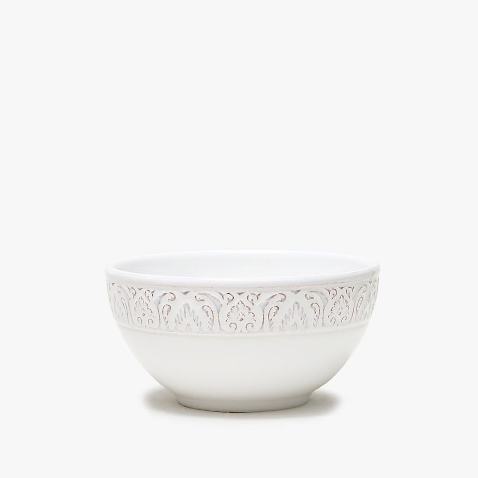 Bowl loza relieve blanco