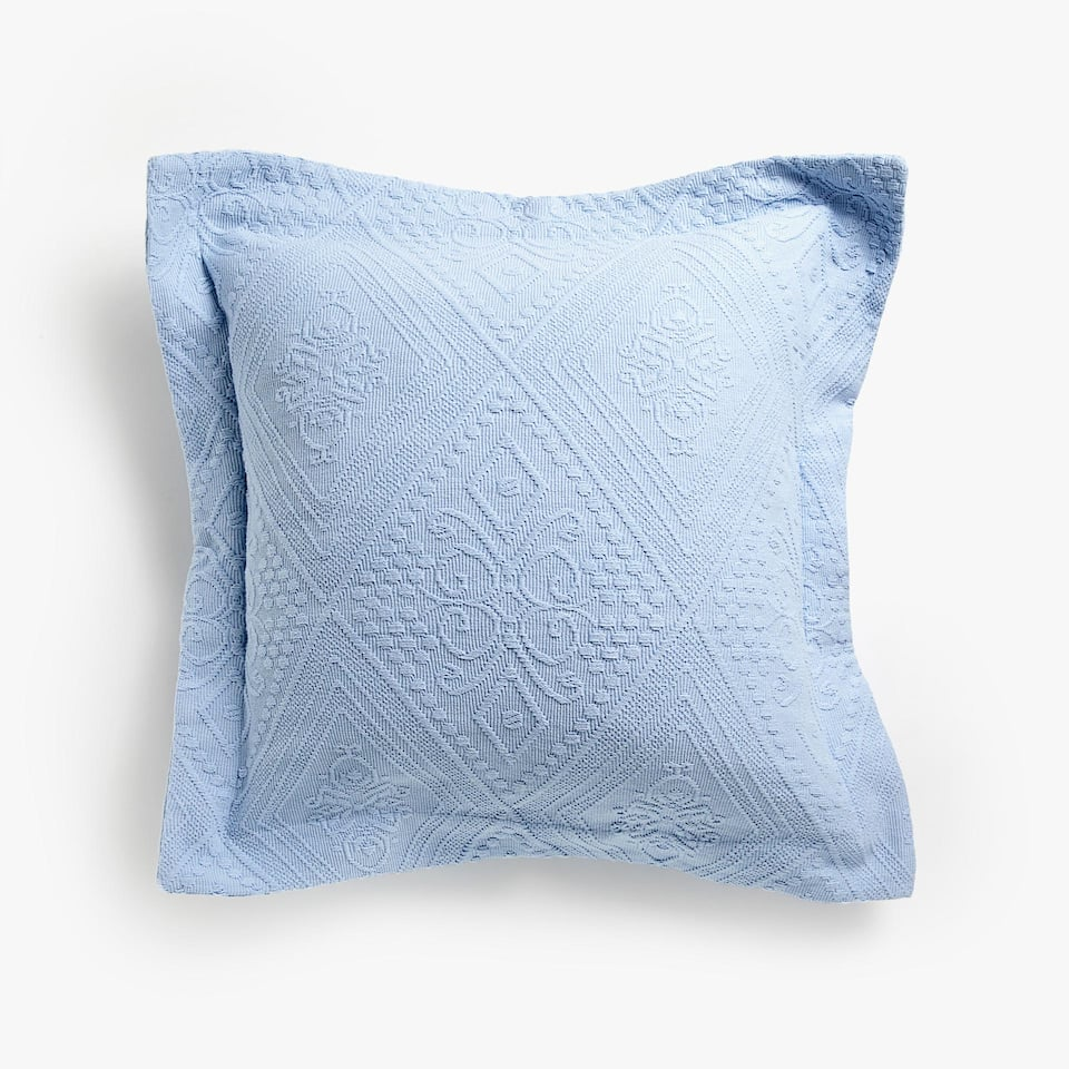 RAISED GEOMETRIC DESIGN COTTON CUSHION COVER