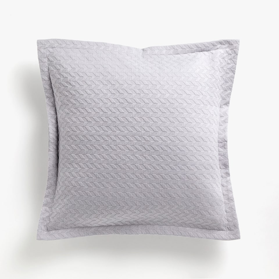 BRAIDED-EFFECT COTTON CUSHION COVER
