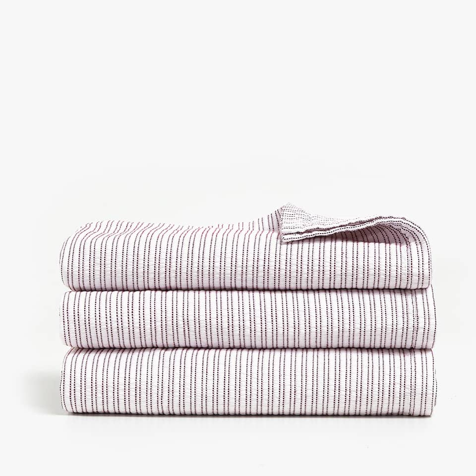 VERTICAL STRIPES COTTON BEDSPREAD