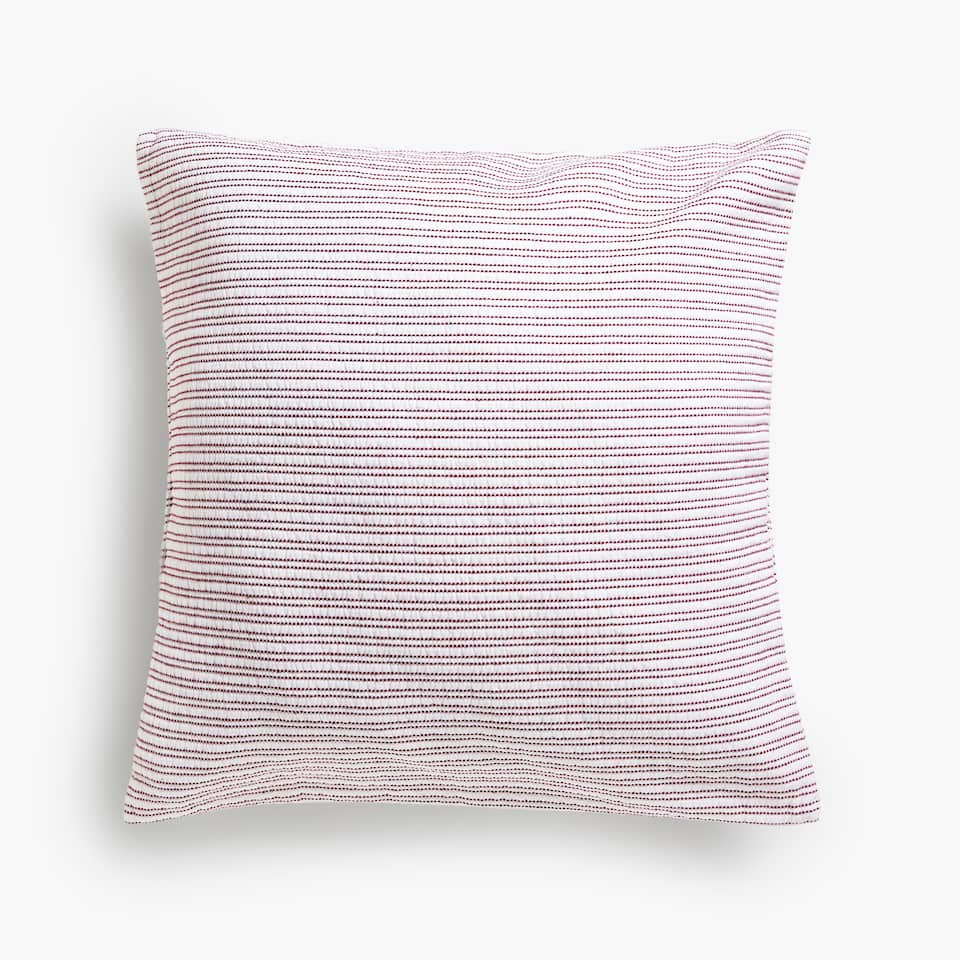 VERTICAL STRIPES COTTON CUSHION COVER