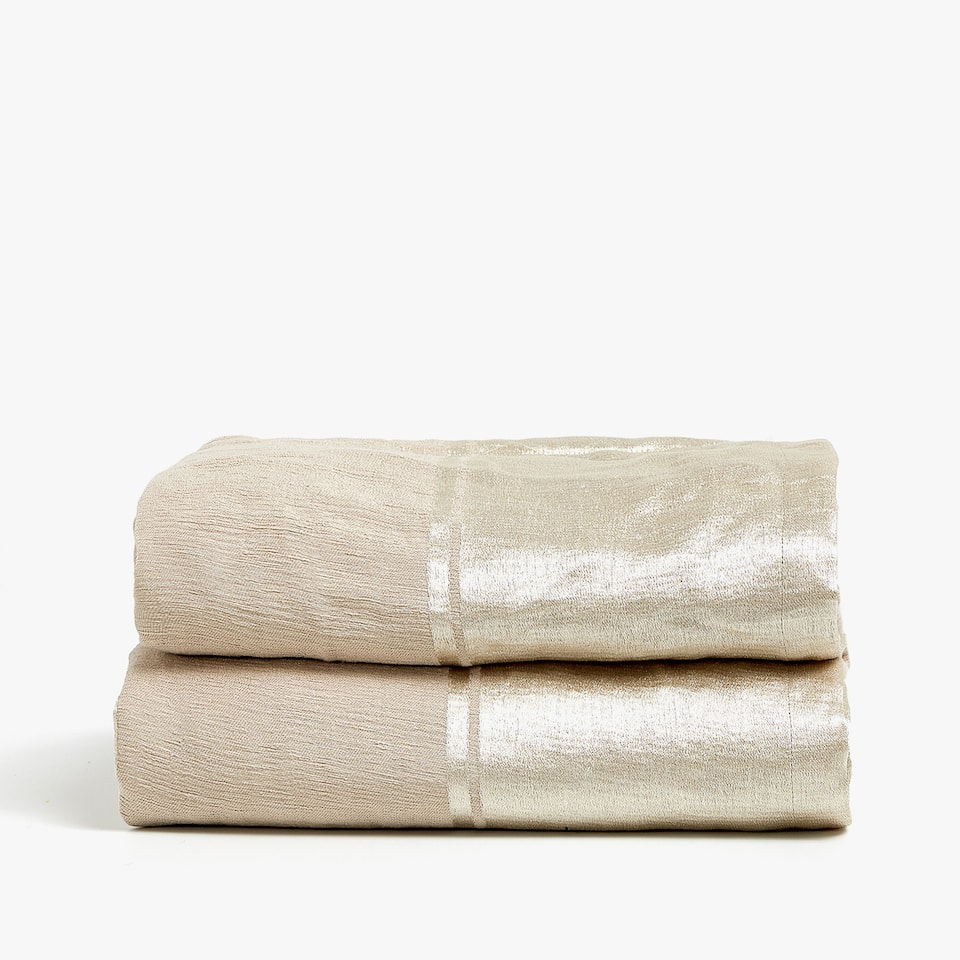STRIPED LINEN TEXTURED BEDSPREAD