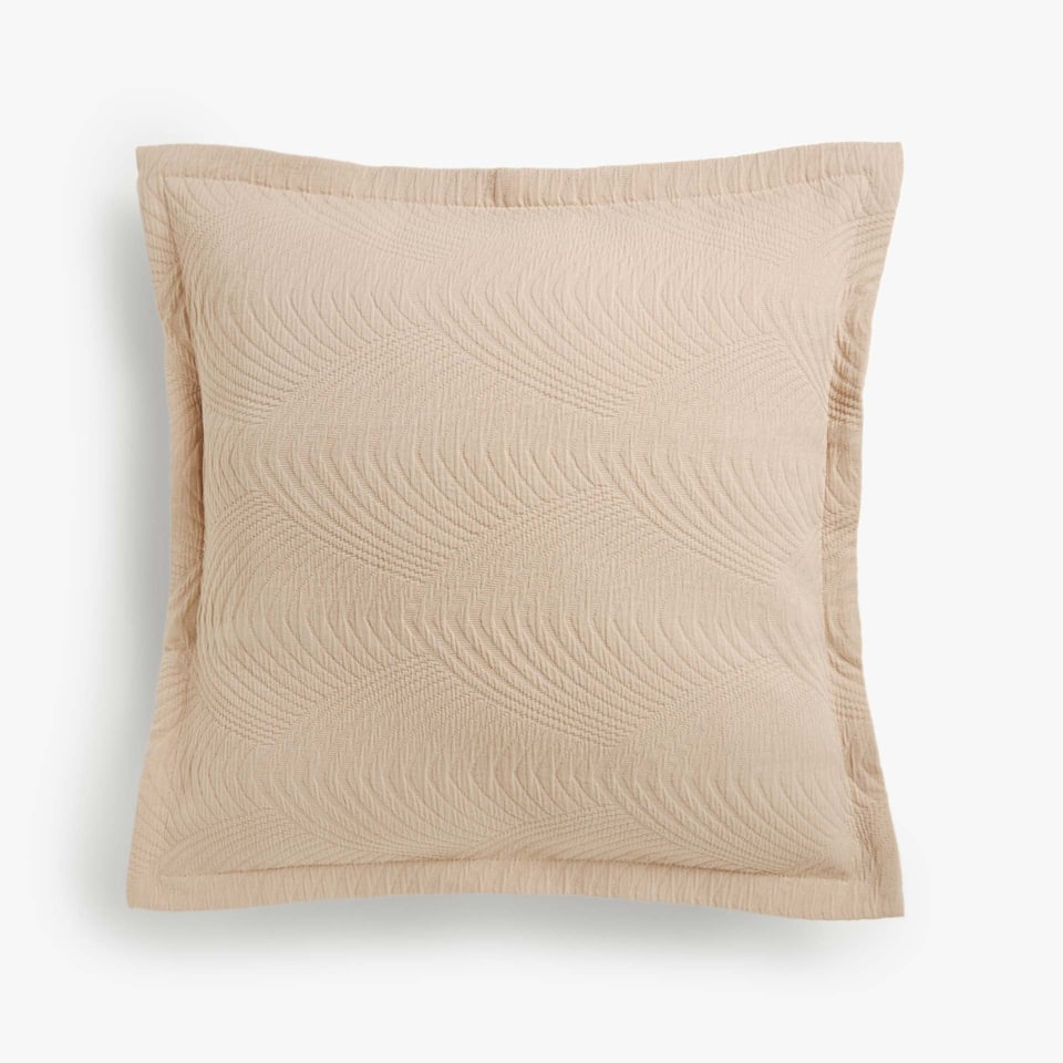 WAVY HERRINGBONE COTTON CUSHION COVER