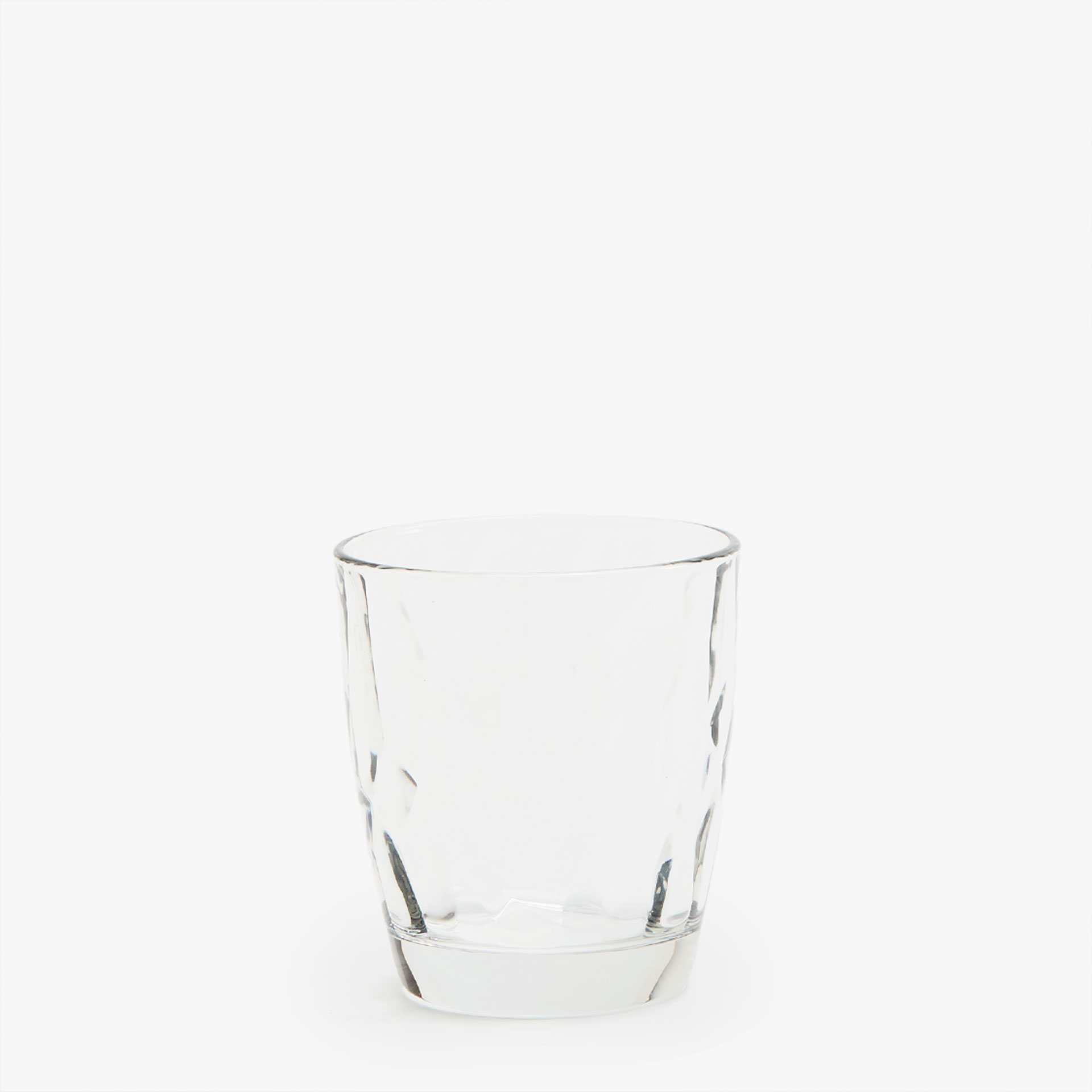 INTERIOR RAISED HAMMERED DIAMANTÉ WATER GLASS