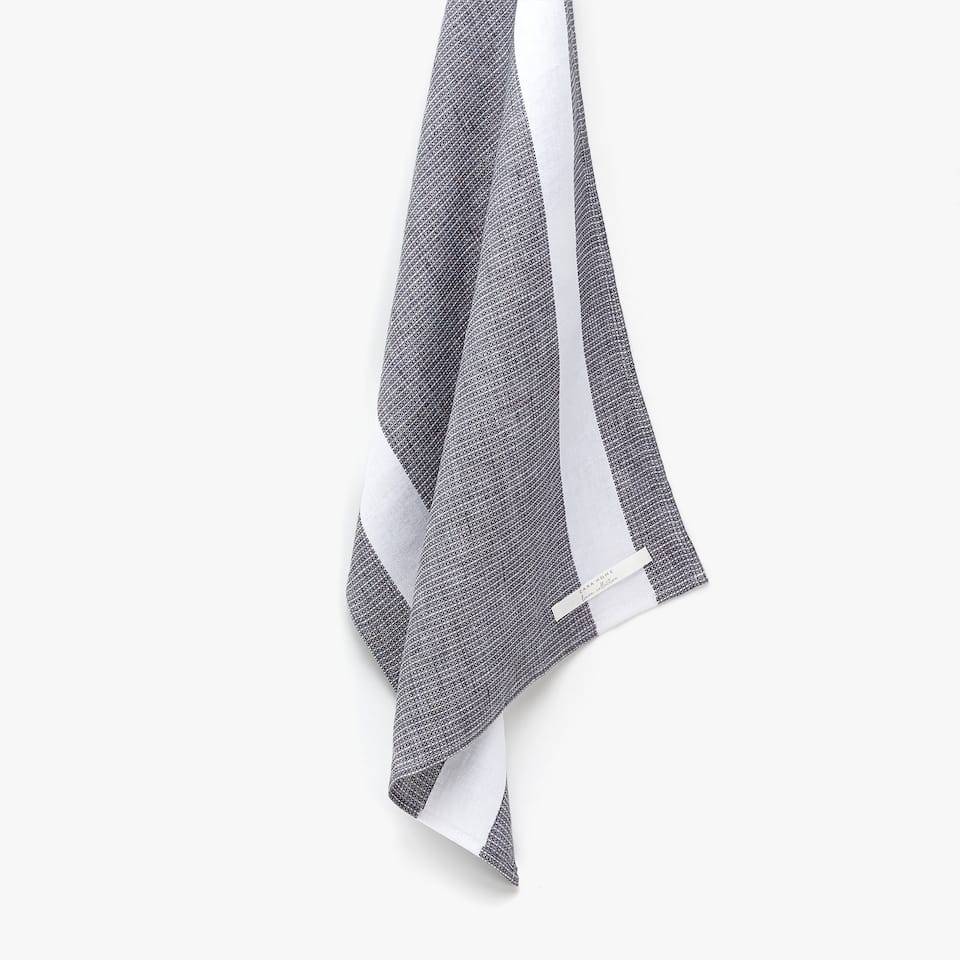 FADED LINEN WAFLLE KNIT TEA TOWEL