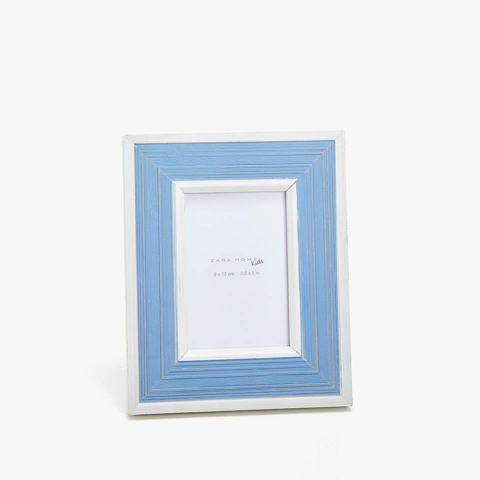 BLUE LACQUERED WOODEN FRAME