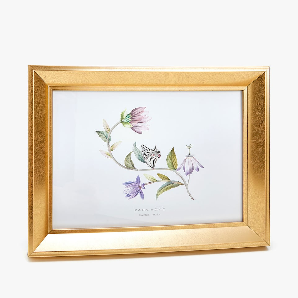 FRAME WITH FLORAL INSERT