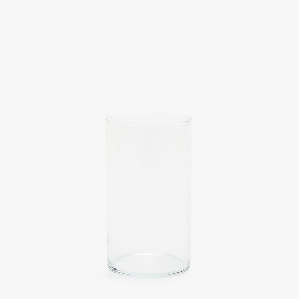 CYLINDRICAL GLASS TUMBLER