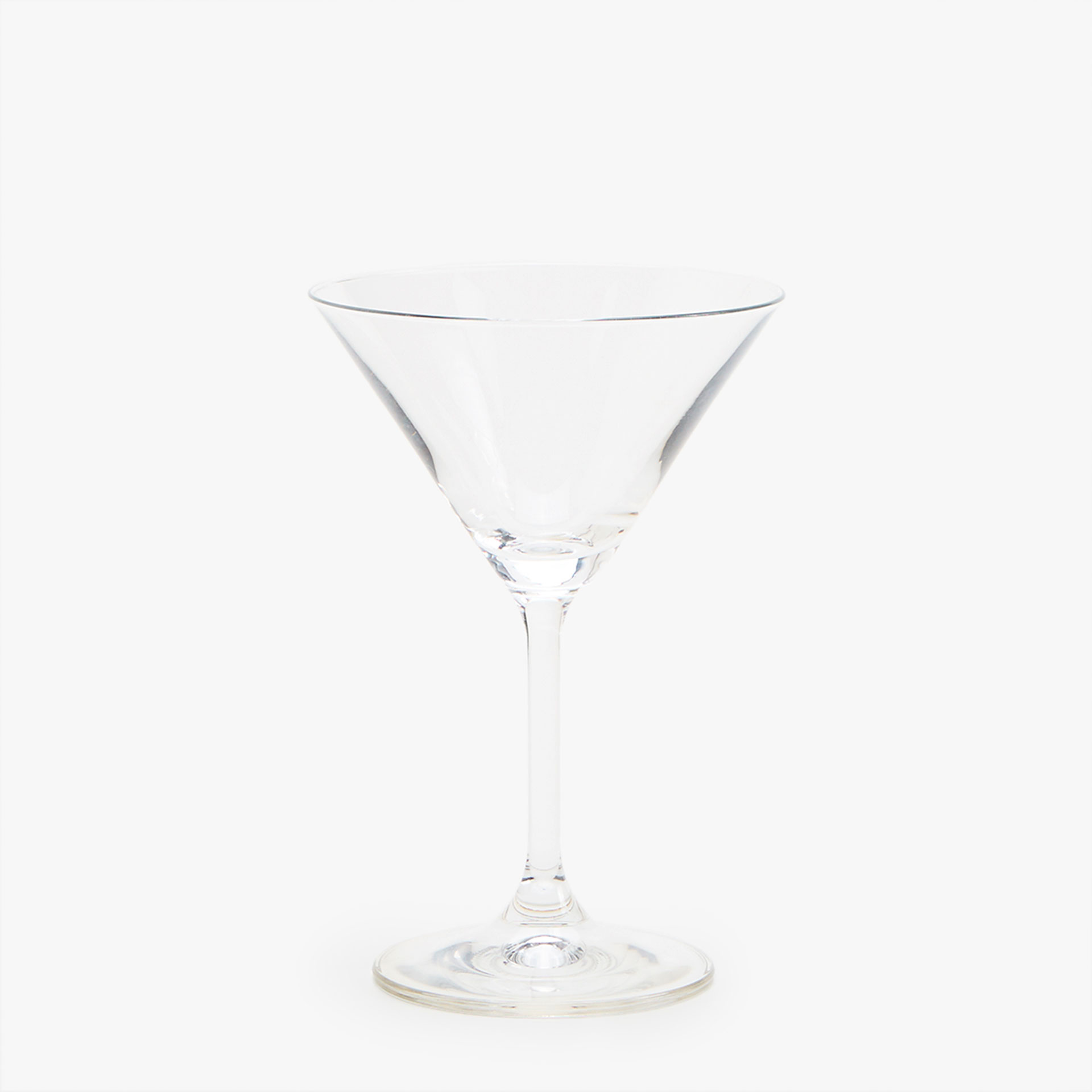 SOLID CHRYSTALLINE MARTINI GLASS