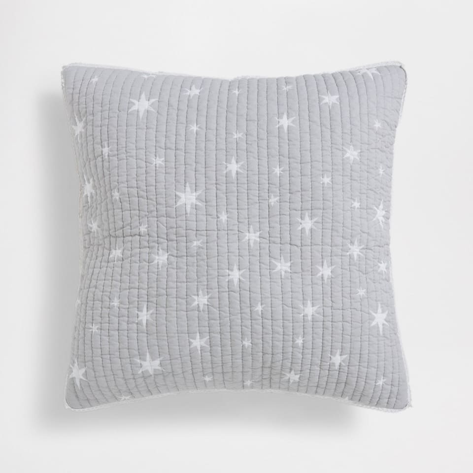 STARS-PRINT COTTON CUSHION COVER
