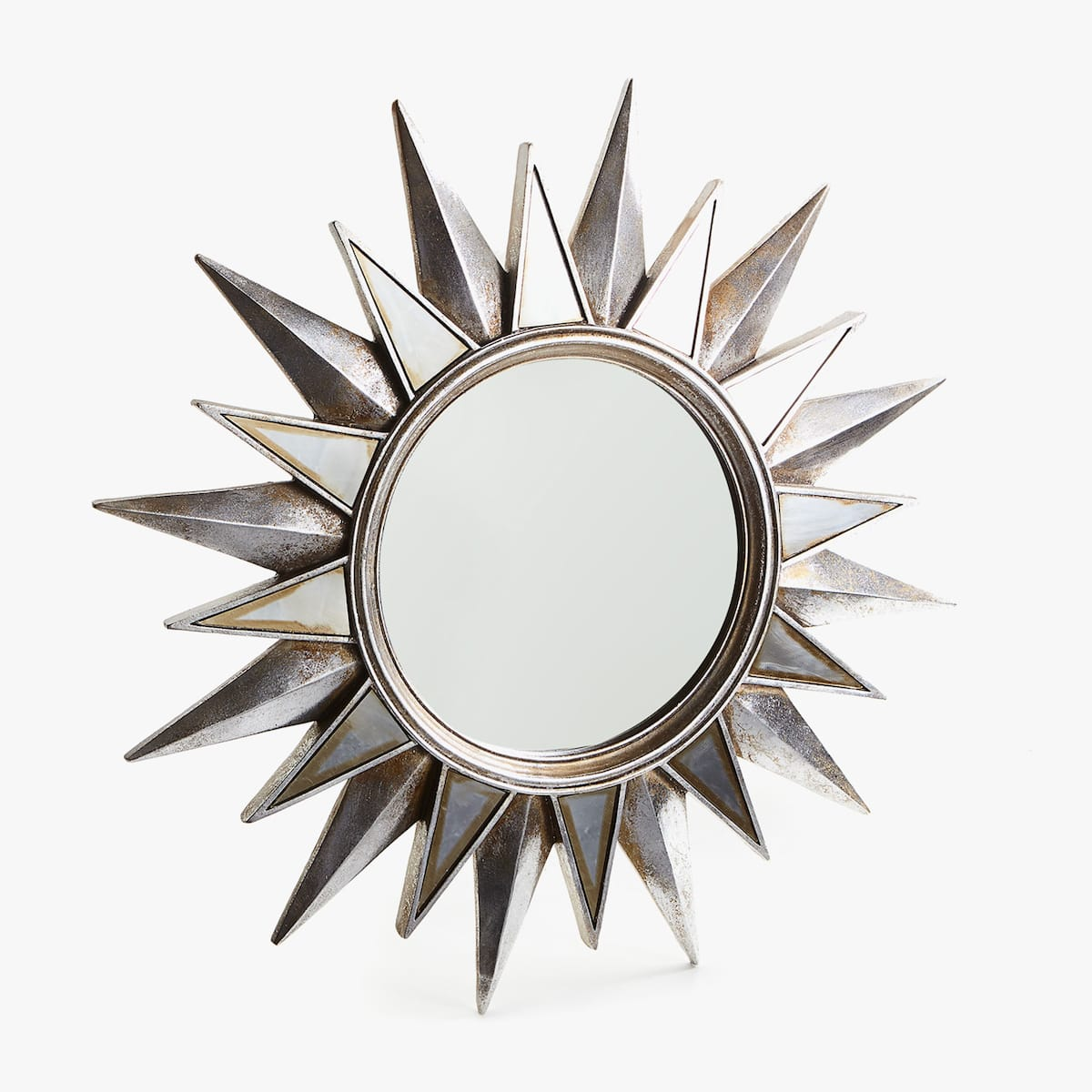 Image 1 Of The Silver Sun Shaped Mirror