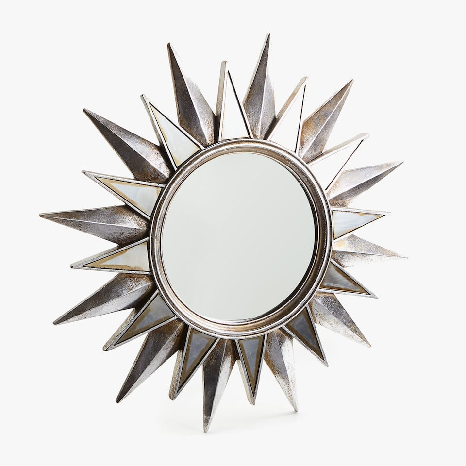 SILVER SUN-SHAPED MIRROR