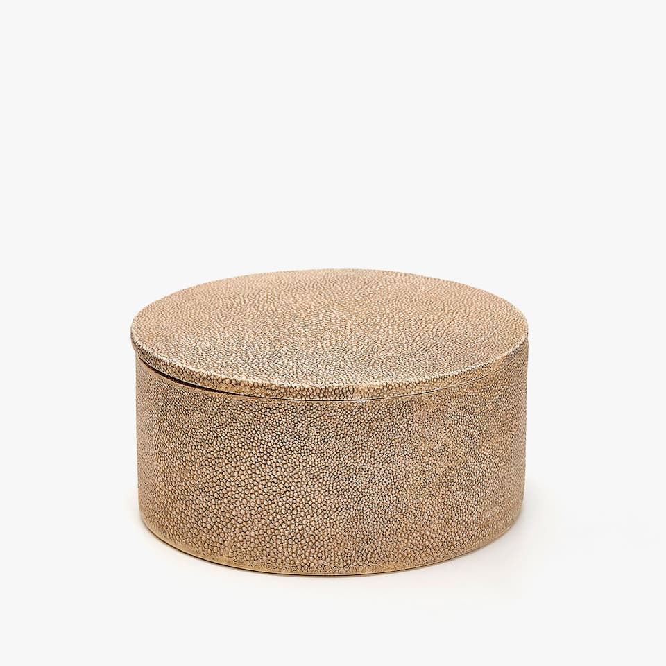 SHAGREEN-EFFECT BOX