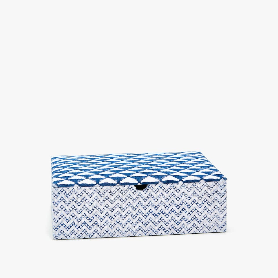 PRINTED FABRIC JEWELLERY BOX