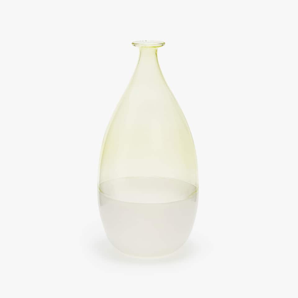TWO-TONE BOROSILICATE GLASS VASE