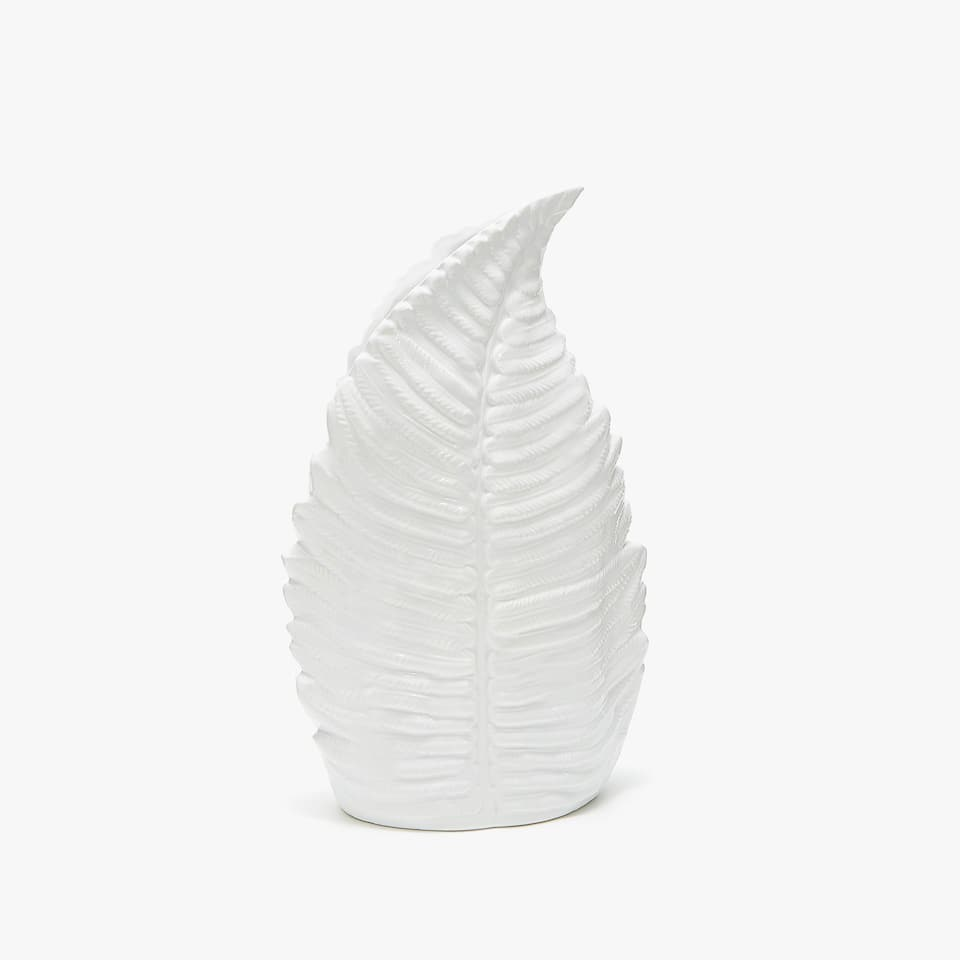 LEAF-SHAPED SMALL CERAMIC VASE