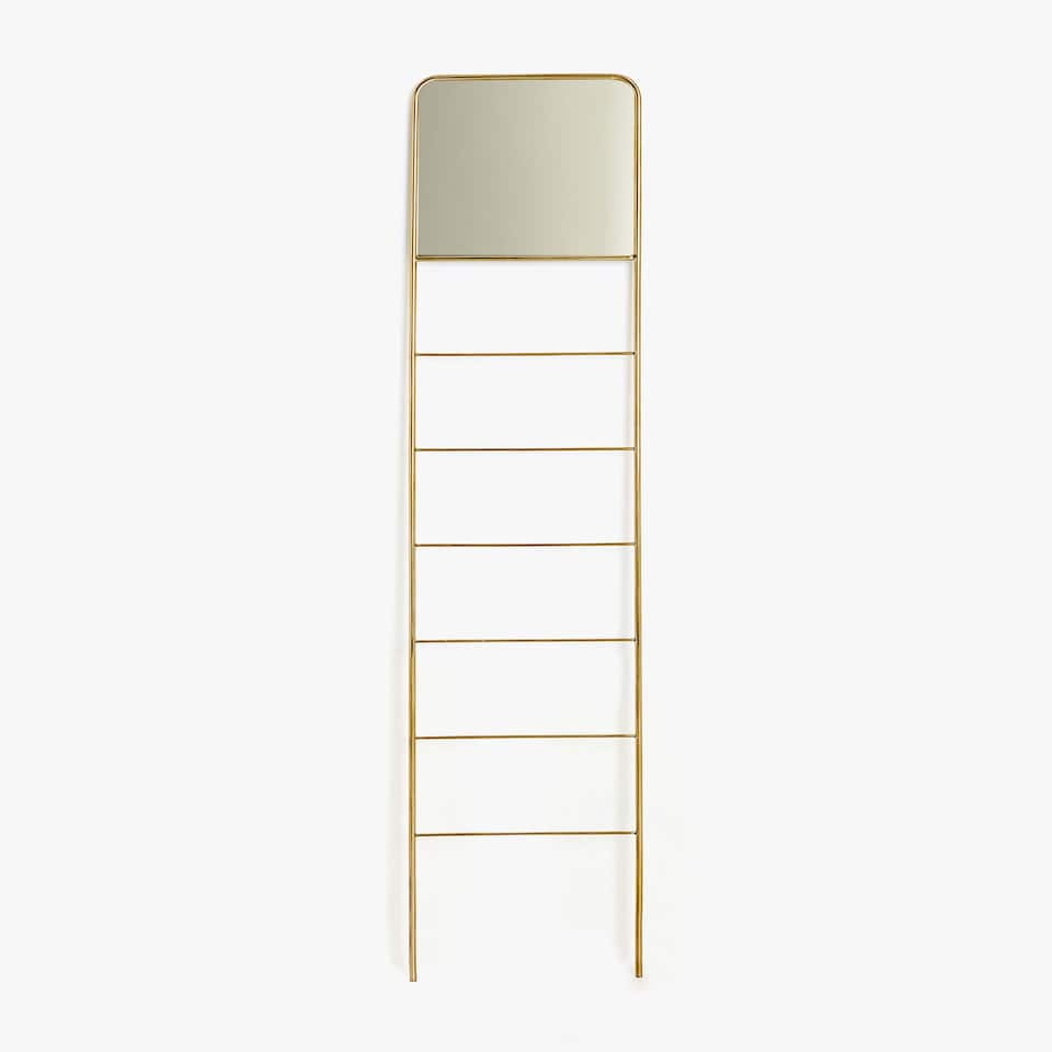 GOLDEN MIRRORED TOWEL RAIL