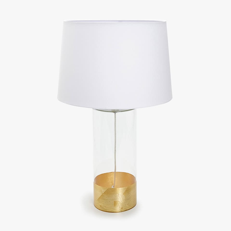 LAMP WITH GOLD DETAIL BASE