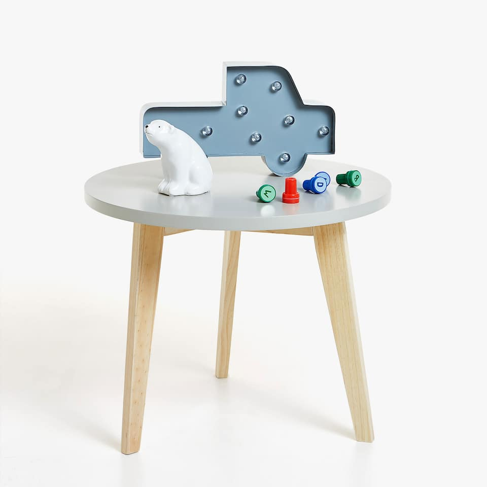 KIDS GREY LACQUERED TABLE