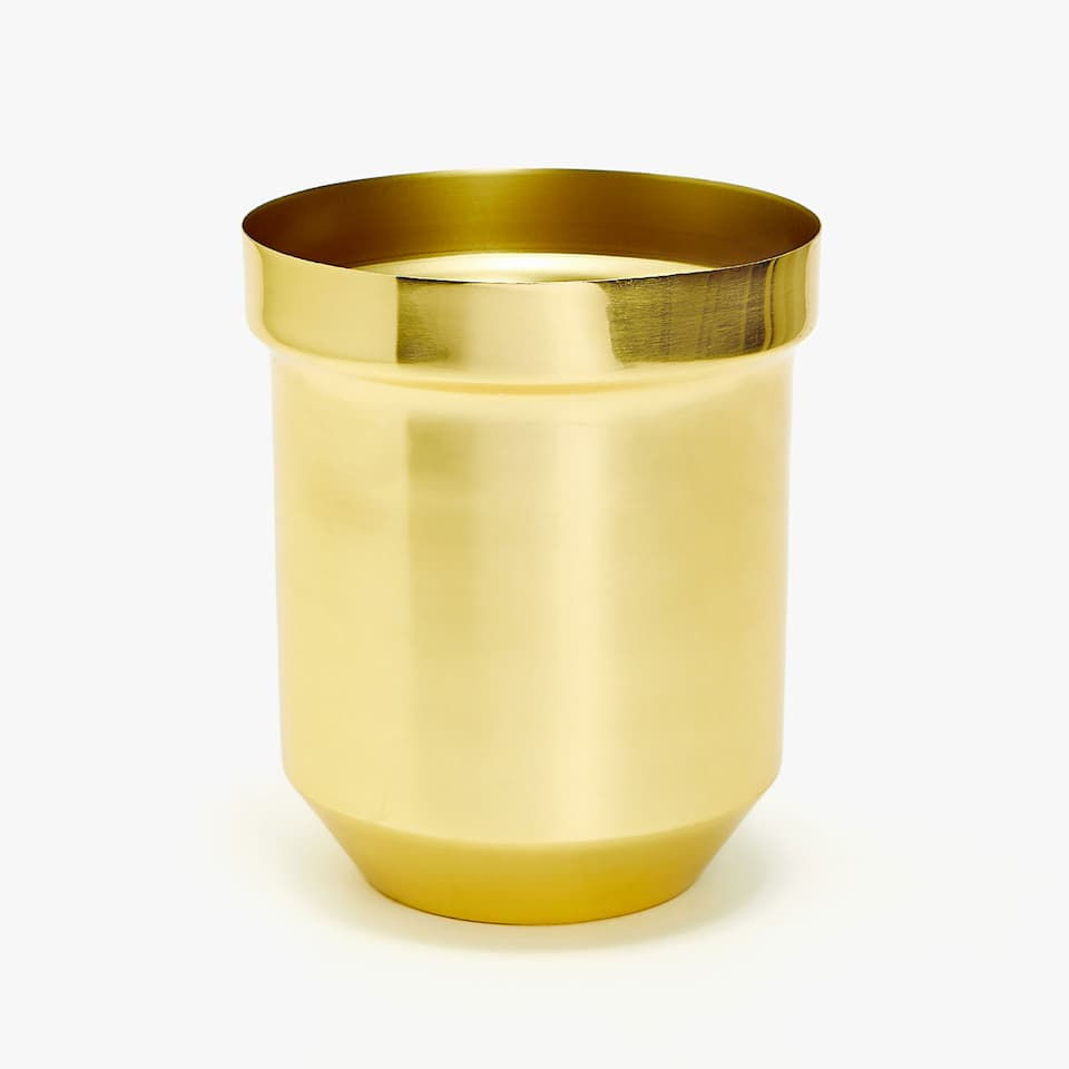 DECORATIVE METAL PLANT POT