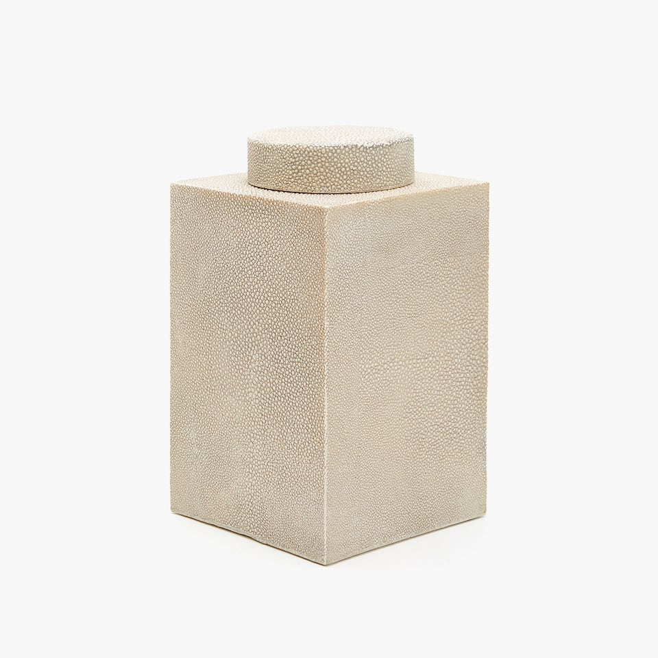 GEOMETRIC SHAPE DECORATIVE JAR