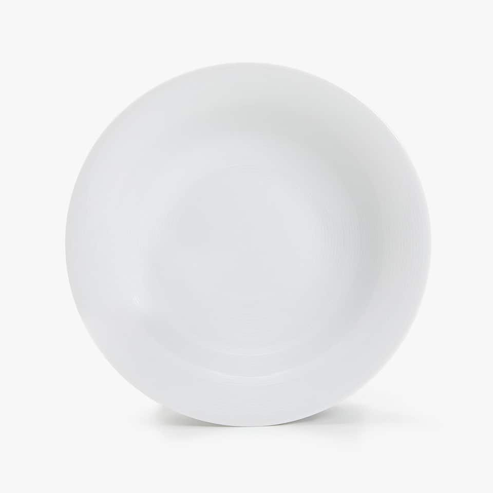 PORCELAIN SOUP DISH WITH LINES