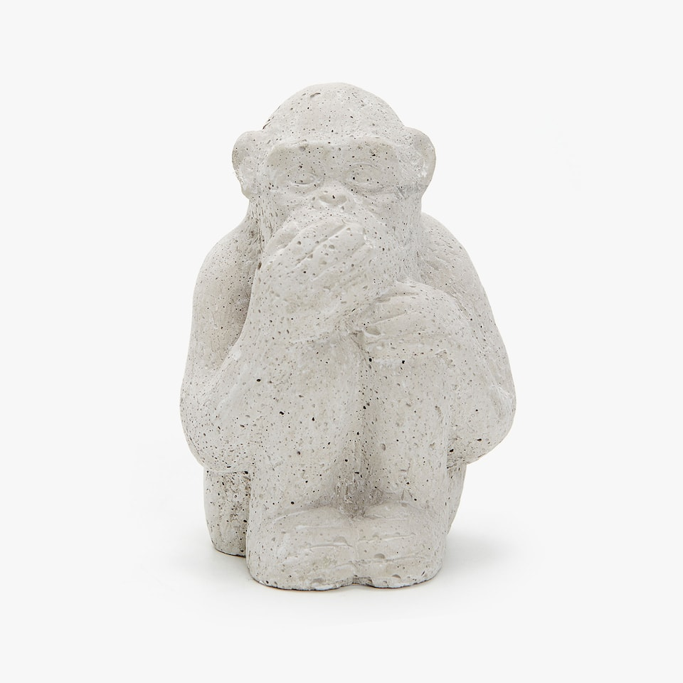 CEMENT MONKEY DECORATIVE FIGURE