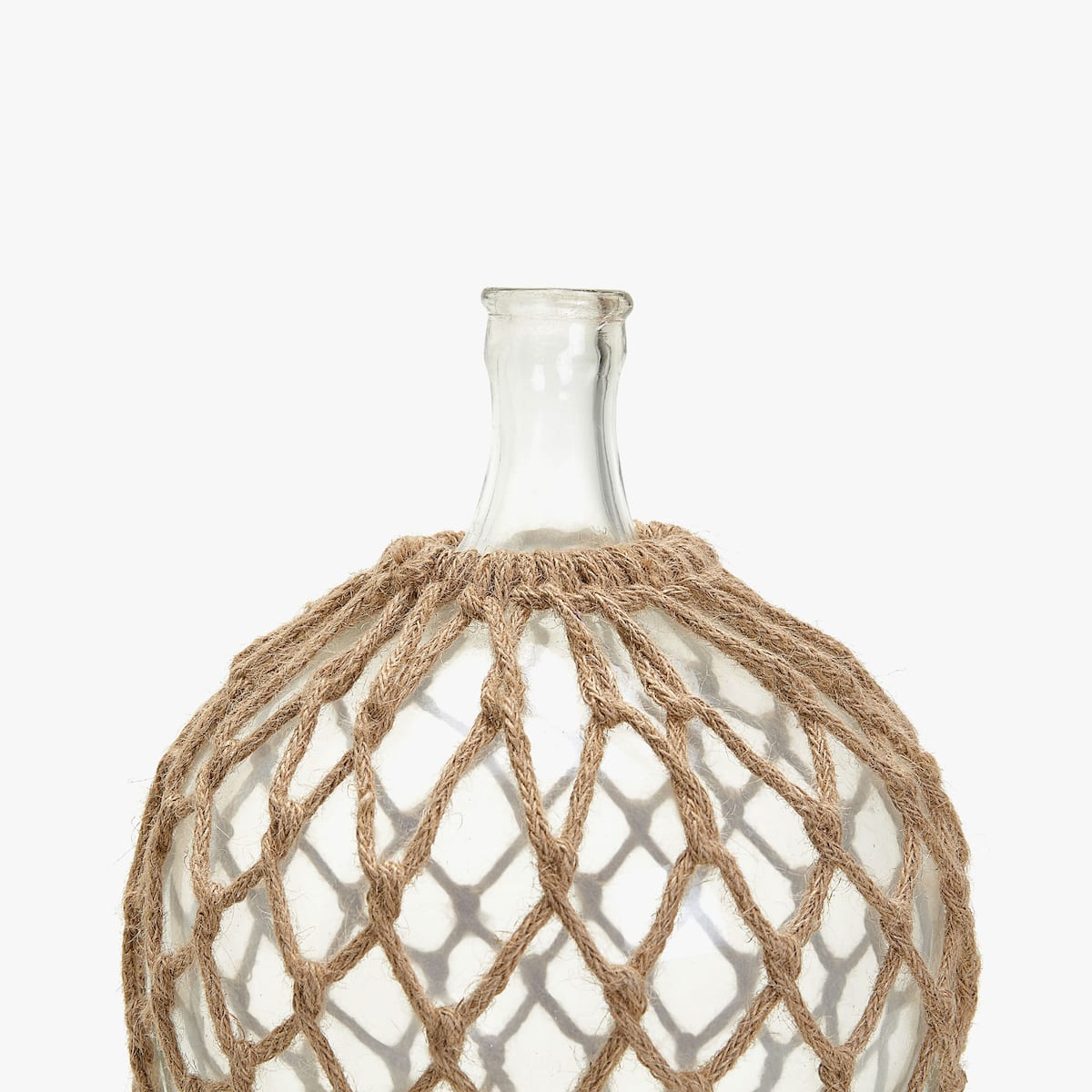 Image 3 Of The Product DECORATIVE GLASS AND JUTE BOTTLE