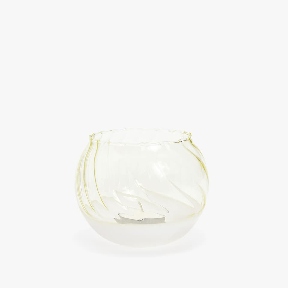 Wavy two-tone tealight holder