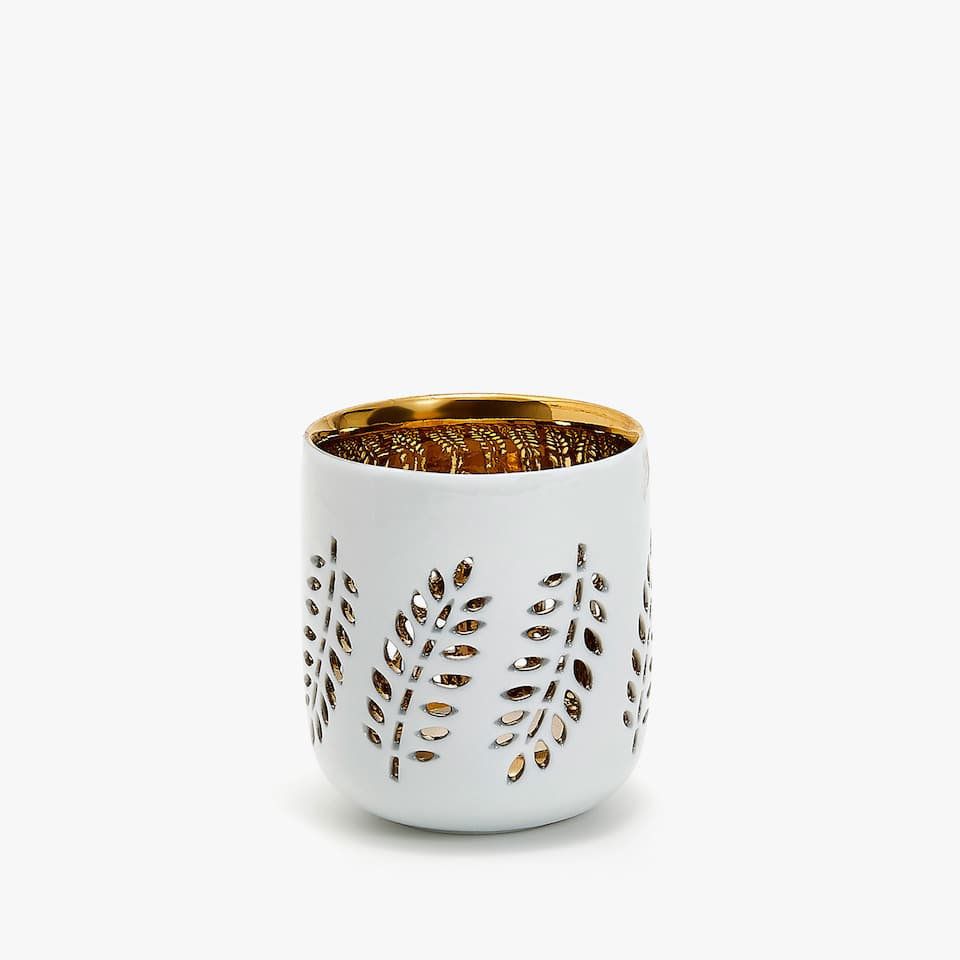 Cutwork tealight holder