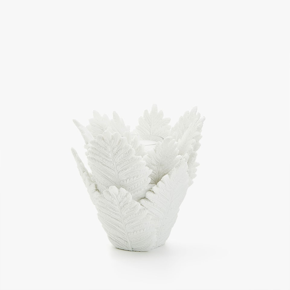 Leaves tealight holder