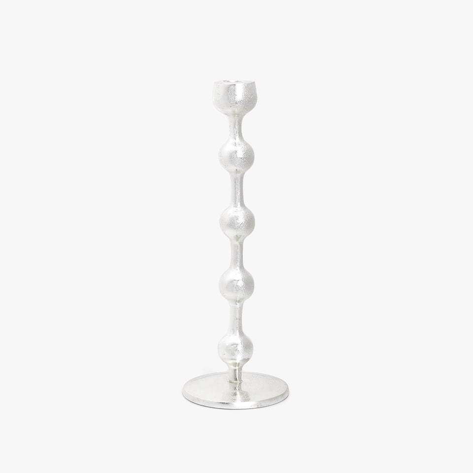 Shaped metal candlestick