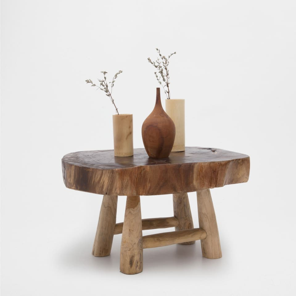 DECORATIVE TEAK TABLE