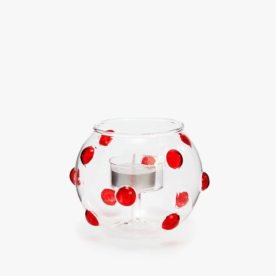Raised dot tealight holder