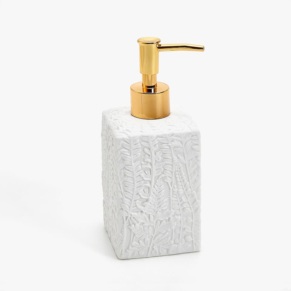 RAISED FERN DESIGN CERAMIC DISPENSER