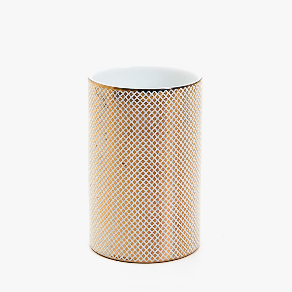 GOLD TRANSFER CERAMIC TUMBLER