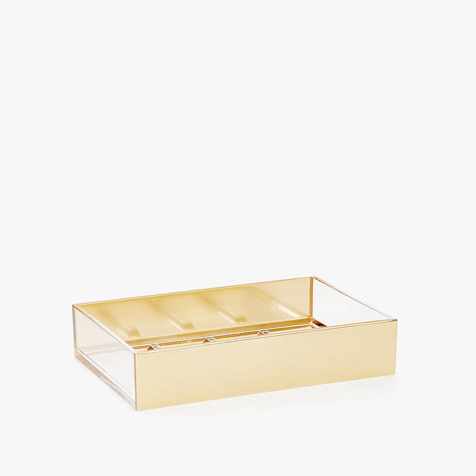 SHINY GOLD SOAP DISH