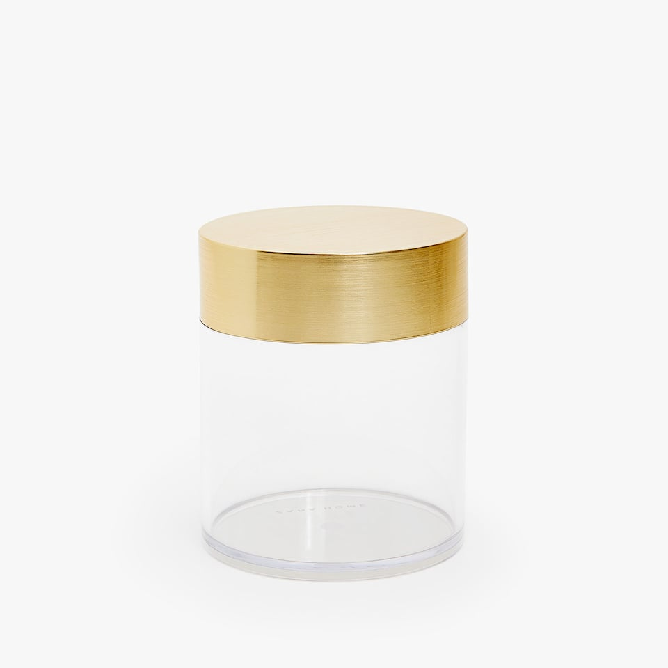 JAR WITH SHINY GOLD DETAIL