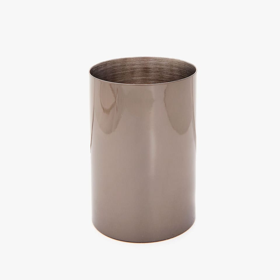 VASO METAL BRILLO