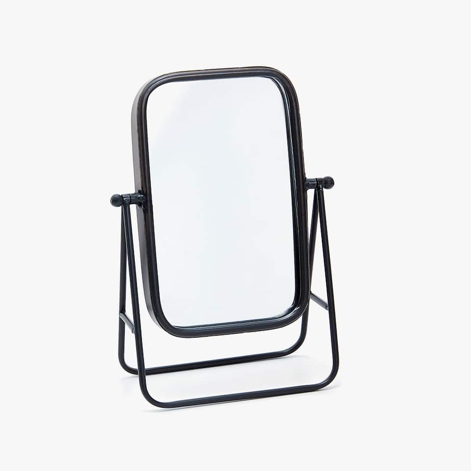 MIRROR WITH METAL STRUCTURE