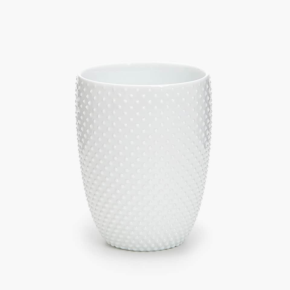 RAISED DOTS CERAMIC TUMBLER