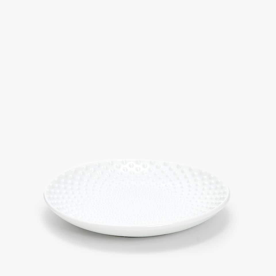 RAISED DOTS CERAMIC SOAP DISH